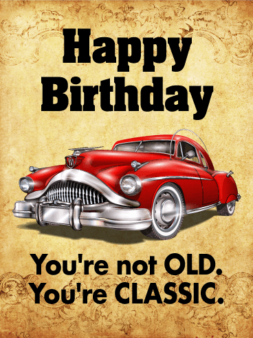 Happy Birthday Car Images : happy, birthday, images, Classic, Funny, Birthday, Greeting, Cards, Davia