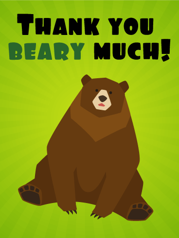 Cute Animal Thank You : animal, thank, Funny, Thank, Birthday, Greeting, Cards, Davia