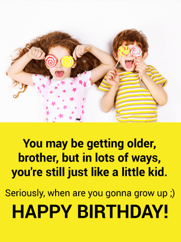 Funny Happy Birthday Brother Images : funny, happy, birthday, brother, images, Funny, Birthday, Brother, Greeting, Cards, Davia