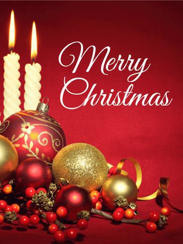 Classic Christmas Ornaments Card Birthday Amp Greeting