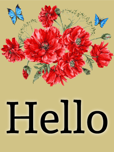 Hello Greeting Card Birthday & Greeting Cards By Davia