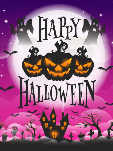 Spooky Halloween Card Birthday & Greeting Cards By Davia