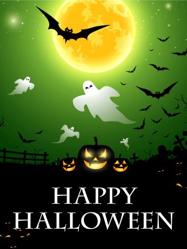 Pumpkins Night Halloween Card Birthday Amp Greeting Cards By Davia
