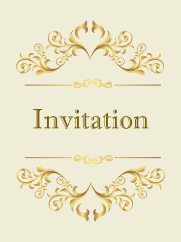 Classic Golden Invitation Card