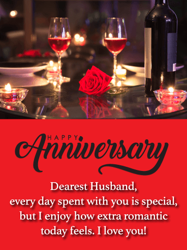 Anniversary Images For Husband : anniversary, images, husband, Romantic, Happy, Anniversary, Husband, Birthday, Greeting, Cards, Davia