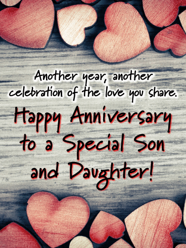 Happy Anniversary Son And Daughter In Law Funny : happy, anniversary, daughter, funny, Anniversary, Cards, Daughter, Birthday, Greeting, Davia, ECards
