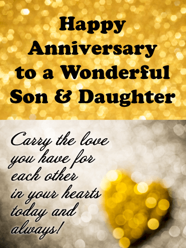 Happy Anniversary Son And Daughter In Law Funny : happy, anniversary, daughter, funny, Sparkling, Happy, Anniversary, Daughter, Birthday, Greeting, Cards, Davia