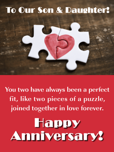 Happy Anniversary Son And Daughter In Law Funny : happy, anniversary, daughter, funny, Perfect, Happy, Anniversary, Daughter, Birthday, Greeting, Cards, Davia
