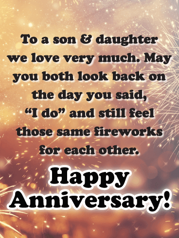 Happy Anniversary Son And Daughter In Law Funny : happy, anniversary, daughter, funny, Long-lasting, Sparks, Happy, Anniversary, Daughter, Birthday, Greeting, Cards, Davia