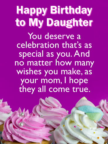 Birthday Cards For Daughter From Parents : birthday, cards, daughter, parents, Deserve, Celebration!, Happy, Birthday, Cards, Daughter, Mother, Greeting, Davia