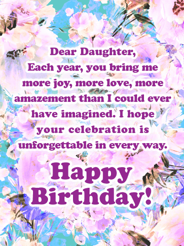 Birthday Cards For Daughter From Parents : birthday, cards, daughter, parents, Unforgettable, Every, Happy, Birthday, Cards, Daughter, Mother, Greeting, Davia