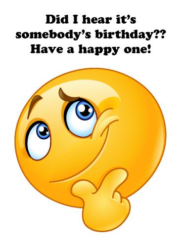 Happy Birthday Emoji Text : happy, birthday, emoji, Thoughtful, Emoji, Happy, Birthday, Greeting, Cards, Davia