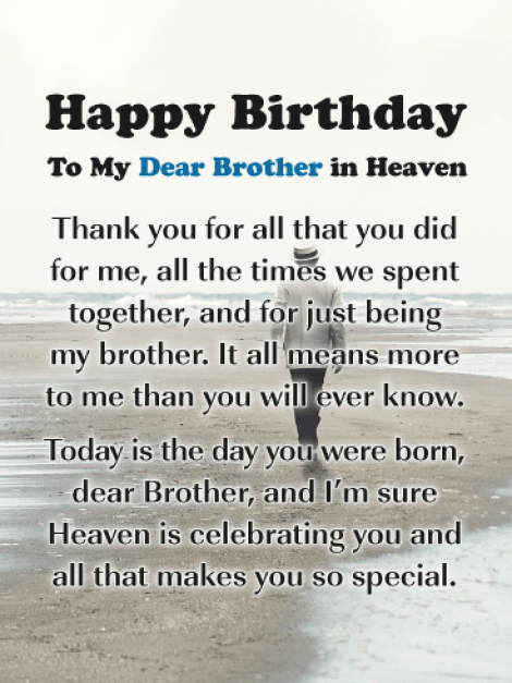 Happy Birthday To My Brother In Heaven Images