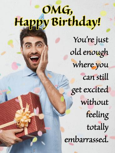 Happy Birthday Funny For Guy : happy, birthday, funny, Funny, Birthday, Cards, Greeting, Davia, ECards