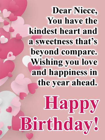 Heartfelt Birthday Wishes For Him : heartfelt, birthday, wishes, Heartfelt, Greeting, Happy, Birthday, Niece, Cards, Davia