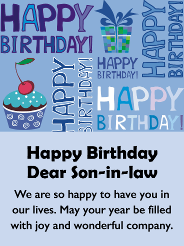 Happy Birthday Son In Law Images : happy, birthday, images, Birthday, Wishes, Son-in-Law, Messages, Davia