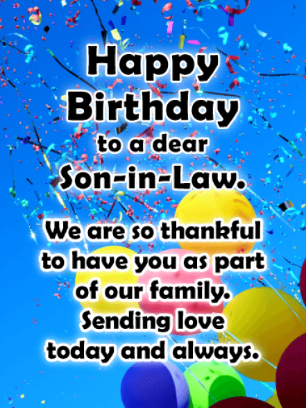 Happy Birthday Son In Law Images