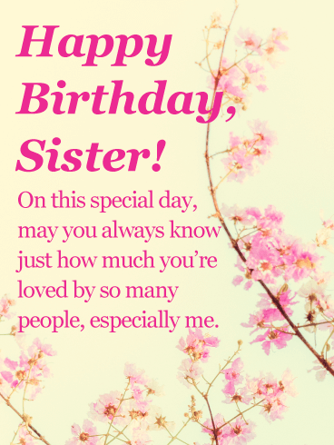 Birthday Cards For Sister Free Download : birthday, cards, sister, download, Birthday, Cards, Sister, Greeting, Davia, ECards