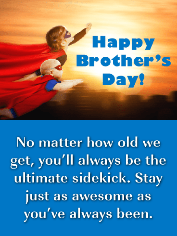 Always be My Sidekick Brother-Happy Brother's Day Card | Birthday &  Greeting Cards by Davia