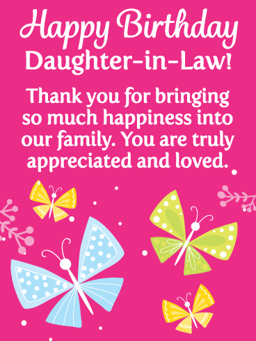 Animated Happy Birthday Daughter : animated, happy, birthday, daughter, Happy, Birthday, Daughter-in-Law, Messages, Images, Wishes, Davia