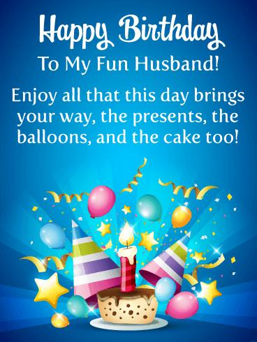 Happy Birthday To My Husband Funny : happy, birthday, husband, funny, Enjoy, Cake!, Happy, Birthday, Husband, Greeting, Cards, Davia