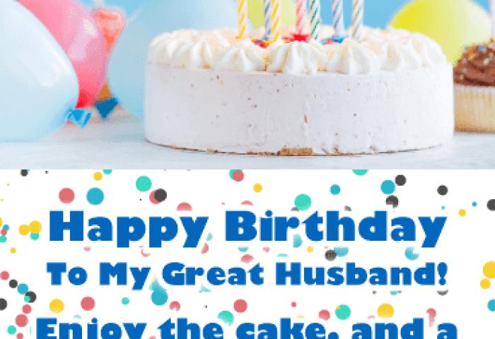 Birthday Cake Cards For Husband Birthday Greeting Cards By Davia