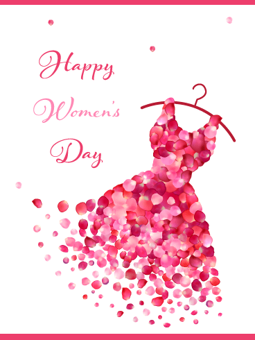 Every march 8th we celebrate the social, economic, cultural, and political achievements of all women who accelerate the conversation around. Beautiful Dress - International Women's Day Card ...