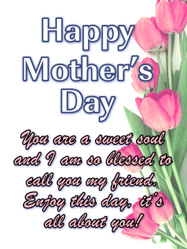 Happy Mothers Day To A Friend Images : happy, mothers, friend, images, Sweet, Happy, Mother's, Friends, Birthday, Greeting, Cards, Davia