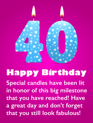 happy 40th birthday messages