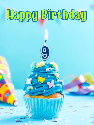 Happy 9 Birthday : happy, birthday, Yummy, Cupcake, Happy, Birthday, Greeting, Cards, Davia