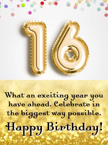 Happy 16th Birthday Son From Mom : happy, birthday, Officially, Adult!, Happy, Birthday, Greeting, Cards, Davia
