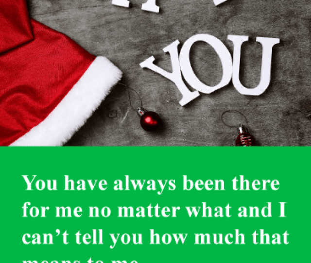 Always There For Me Christmas Thank You Card