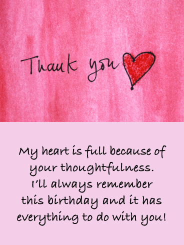 Thank You To My Customers : thank, customers, Heart, Thank, Birthday, Wishes, Greeting, Cards, Davia