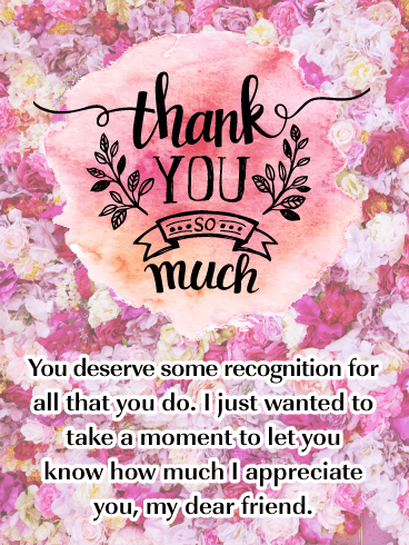 Thank You To My Customers : thank, customers, Watercolor, Flowers, Thank, Friend, Birthday, Greeting, Cards, Davia
