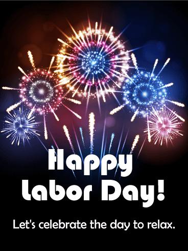 Let's Celebrate! Happy Labor Day Card Birthday