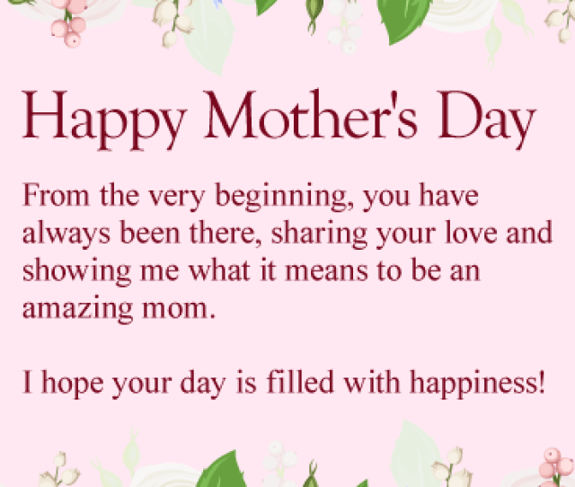 To My Amazing Mom Happy Mothers Day Card