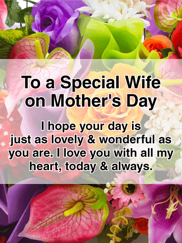 Our Family Is Blessed Happy Mothers Day Card For Wife