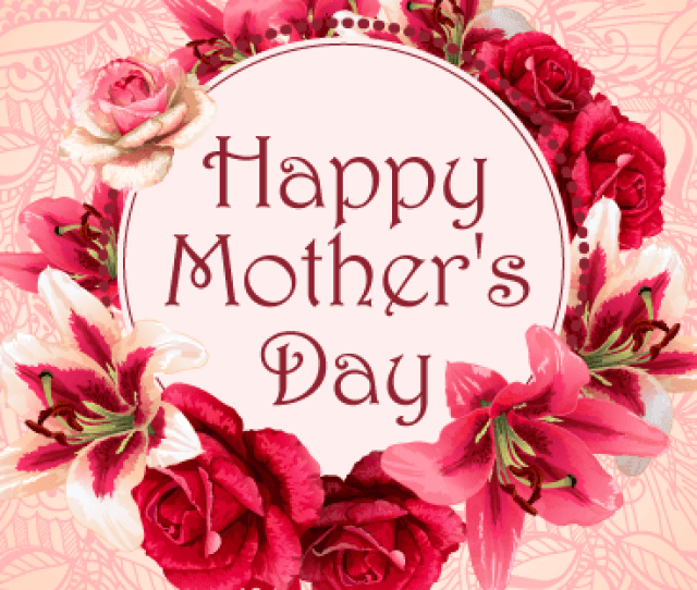 Flower Wreath Happy Mothers Day Card