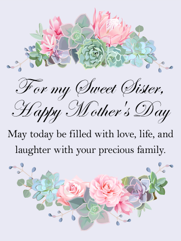 for my sweet sister