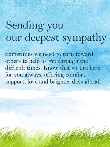 How To Say Thank You For Condolences : thank, condolences, Sympathy, Birthday, Greeting, Cards, Davia