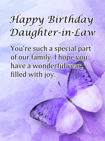Personalised Birthday Card Daughter-in-law Daughter | Etsy