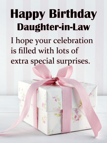 Personalised Daughter In Law Birthday Cards : personalised, daughter, birthday, cards, Birthday, Cards, Daughter-in-Law, Greeting, Davia, ECards