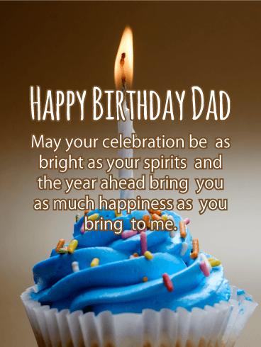 Cake Happy Birthday Dad : happy, birthday, Cupcake, Happy, Birthday, Father, Greeting, Cards, Davia