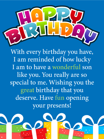 Happy Birthday Images For Son : happy, birthday, images, Lucky, Happy, Birthday, Greeting, Cards, Davia