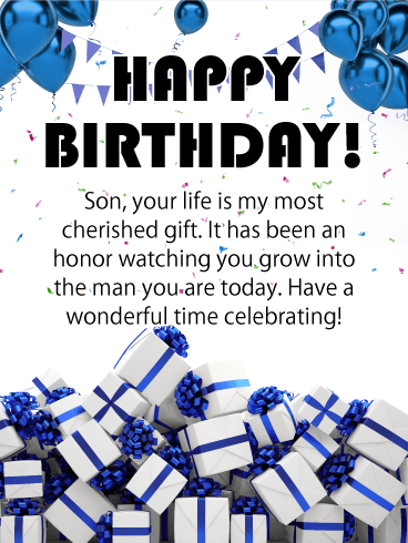 Printable Birthday Cards For Son : printable, birthday, cards, Birthday, Cards, Greeting, Davia, ECards