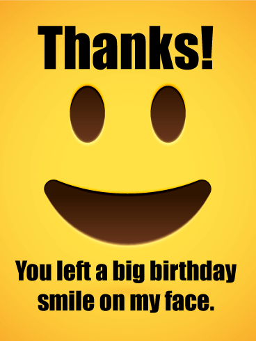 Thanks For The Birthday Wishes Funny : thanks, birthday, wishes, funny, Smiling, Thank, Birthday, Wishes, Greeting, Cards, Davia