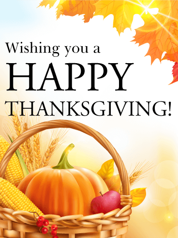 Time for the Big Meal - Happy Thanksgiving Card | Birthday & Greeting Cards  by Davia