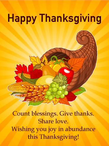 Colorful & Fun Happy Thanksgiving Card Birthday