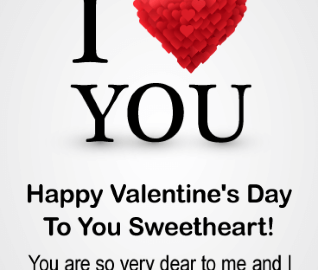 To My Sweetheart Happy Valentines Day Card For Him