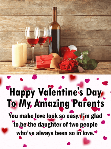 Funny Valentines Day Quotes For Parents : funny, valentines, quotes, parents, Amazing, Parents, Happy, Valentine's, Birthday, Greeting, Cards, Davia